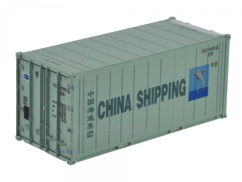 1:87 20´ Reefer ChinaShipping Kühl-Container, ISO 22R1, # CCLU ...